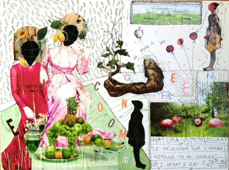natura VS cultura collage