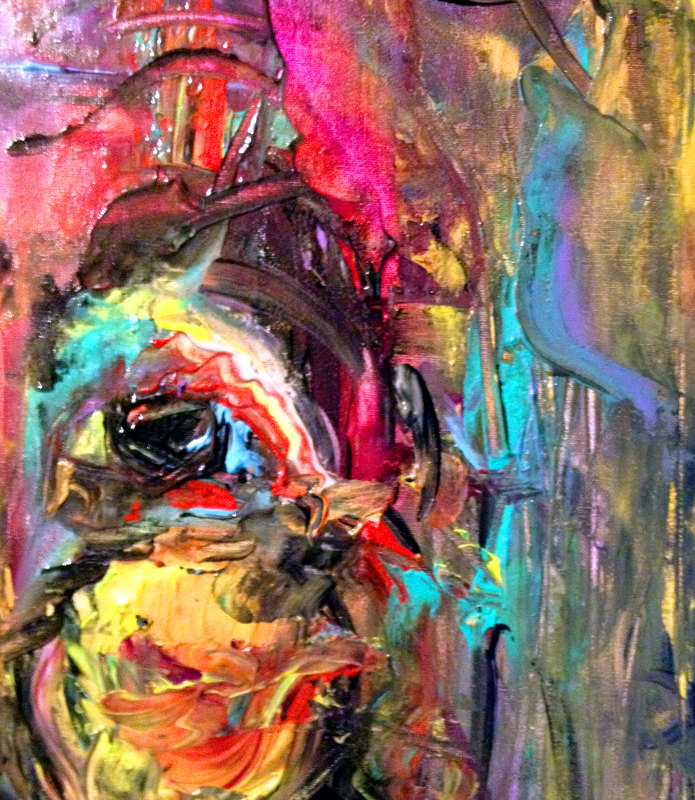 homage to de kooning-detail face