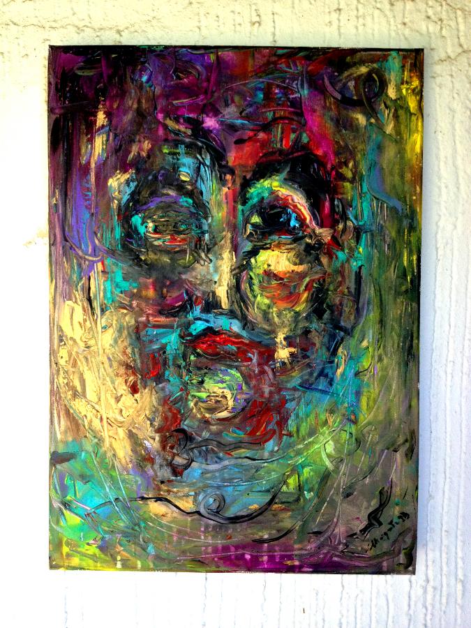 woman in the mirror-homage to willem de kooning