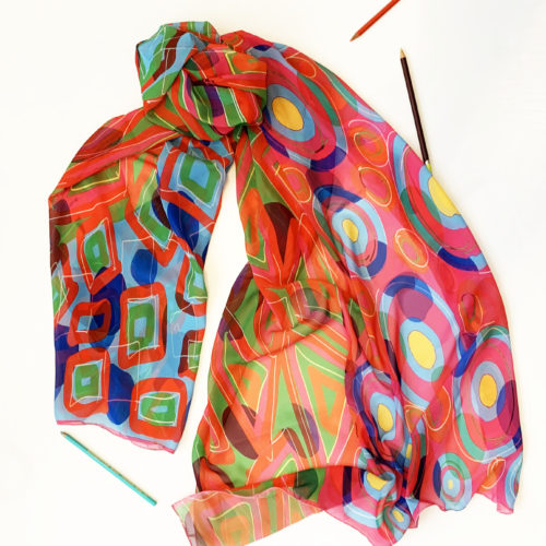 Eco Friendly scarves: Crystals scarf.