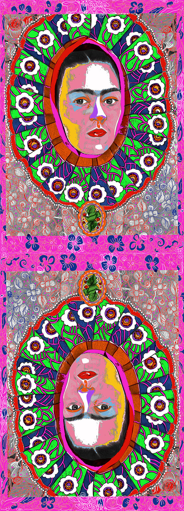 Frida Pop Art scarf