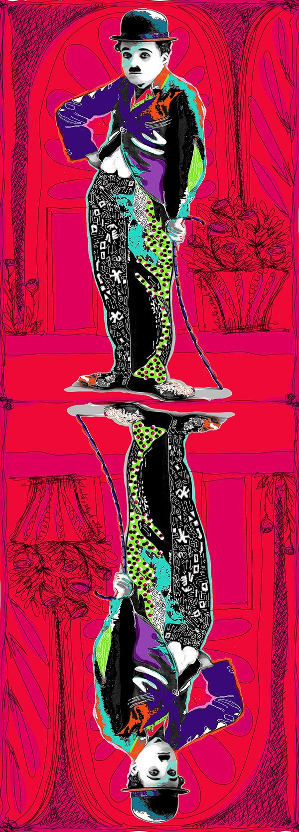 charlie chaplin contemporary pop art